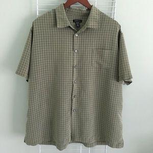 Van Heiden Men's shirt Button Down, Short Sleeves